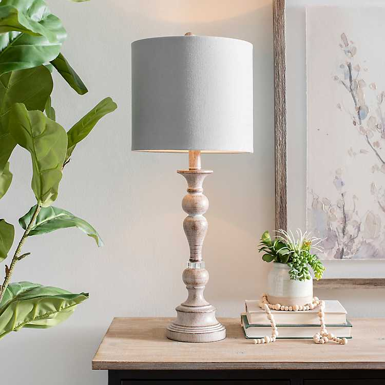 Gray Spindle Buffet Lamp In 2020 Buffet Lamps Lamp Inspiration