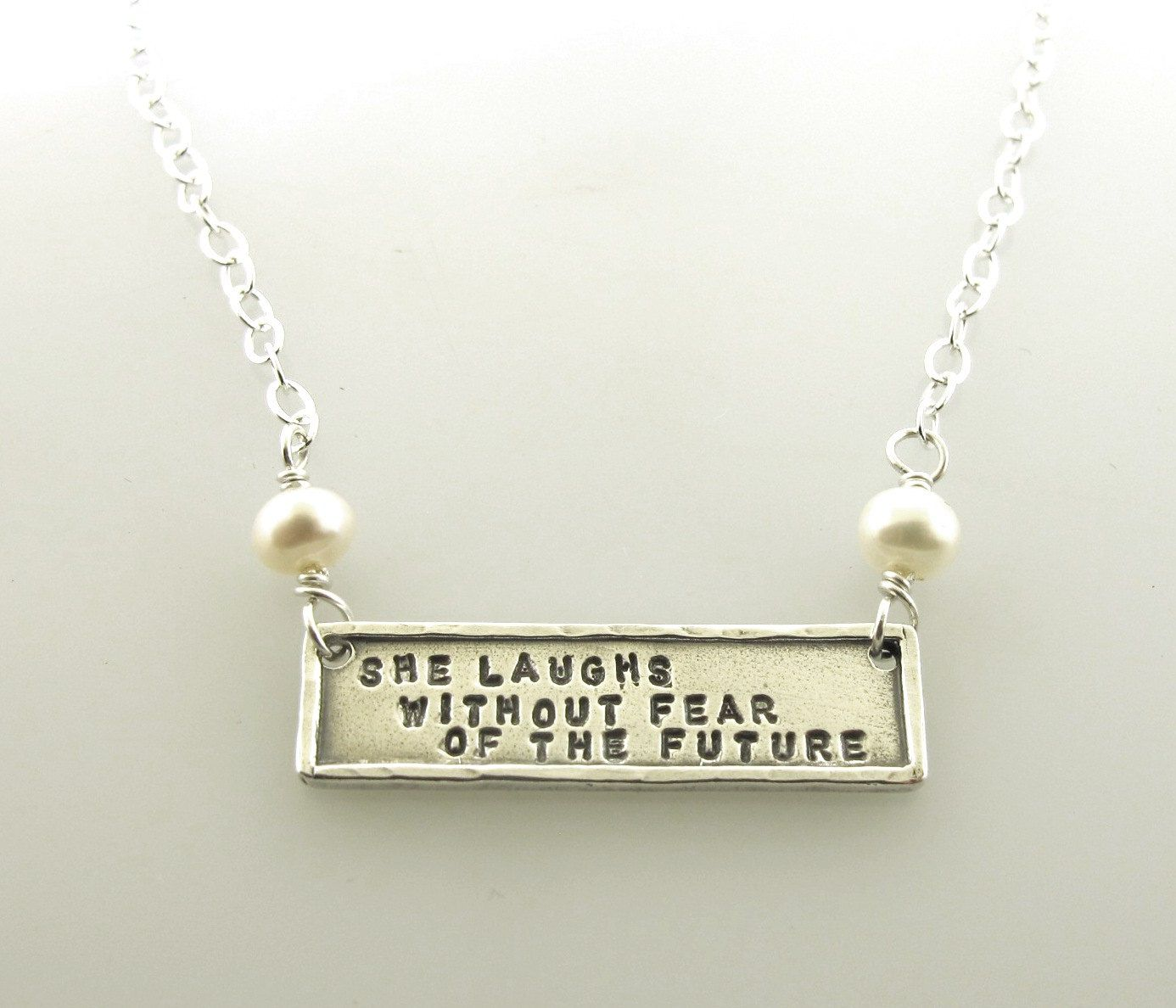 She Laughs Without Fear Of The Future, Sterling Silver