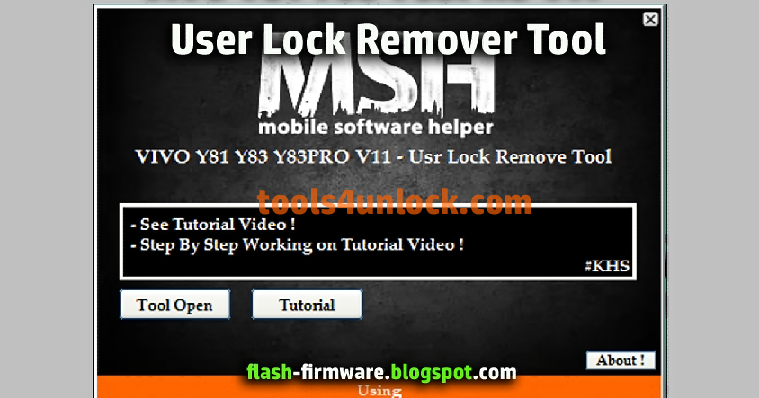 DownloadVIVO Y81 Y83 Y83PRO V11 User Lock Remover Feature
