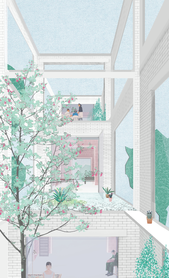 Archaic Mag Image For Projective Habitat Competition By Fakt Aachen 2016 Architecture Graphics Architecture Illustration Gallery Wall