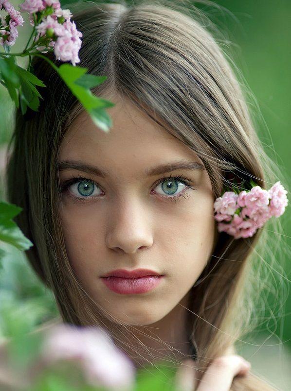 Light brown hair photography