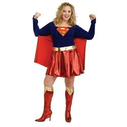 Wholesale Halloween Costumes - Plus Size Supergirl Costume for Adult