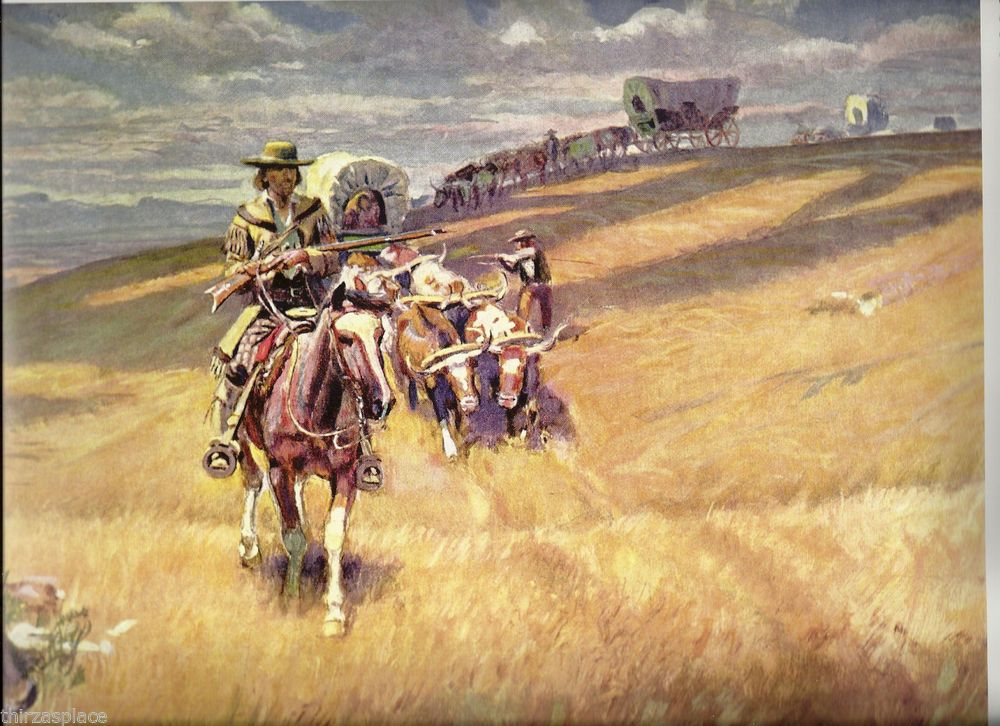Charles M Russell WESTERN ART POSTER Indian Attack