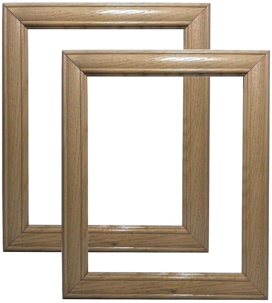 Set of 2 - 8x10 Natural Oak Wood Picture Frames~Pickled~White~5x7 ...