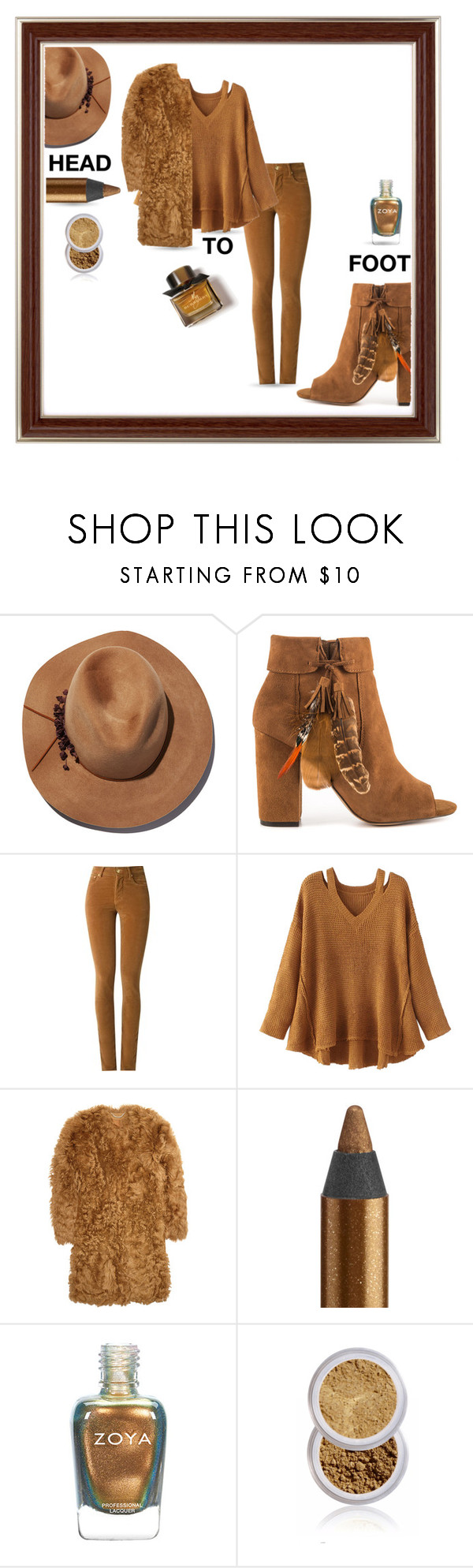 """""""Head To Foot"""" by queenofsienna ❤ liked on Polyvore featuring Eugenia Kim, Jessica Simpson, Amapô, WithChic, Burberry and Urban Decay"""