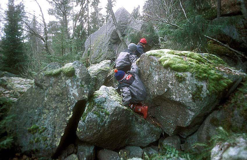 Moving in natural landscapes. Photo: Frode Svane.