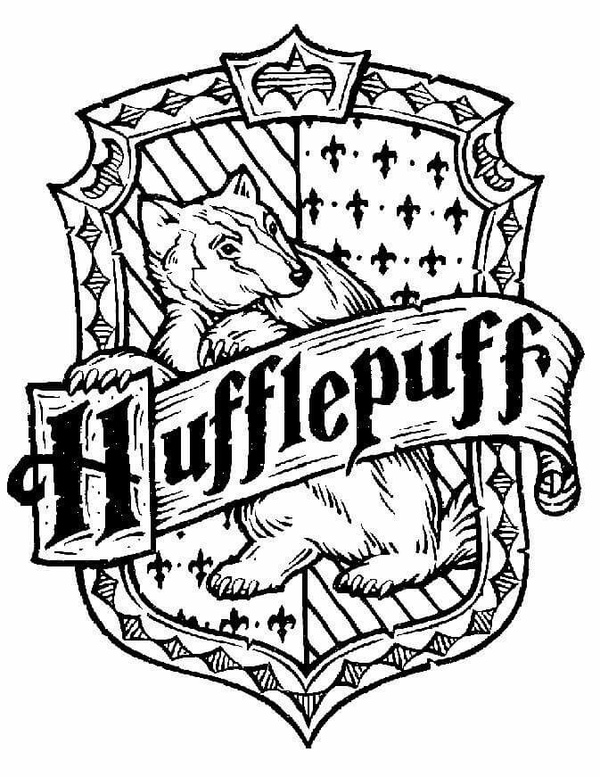 Hufflepuff coloring pages Harry potter colors, Harry