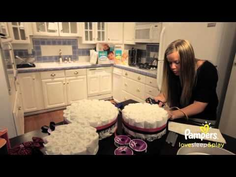 Diaper Cake Instructions Baby Shower Ideas Pampers Crafts