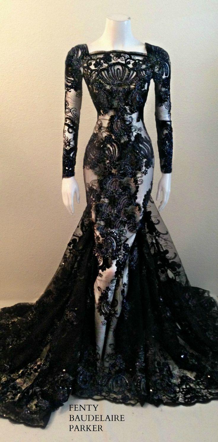 Vestido preto rendado vestidos de festa inspirações em