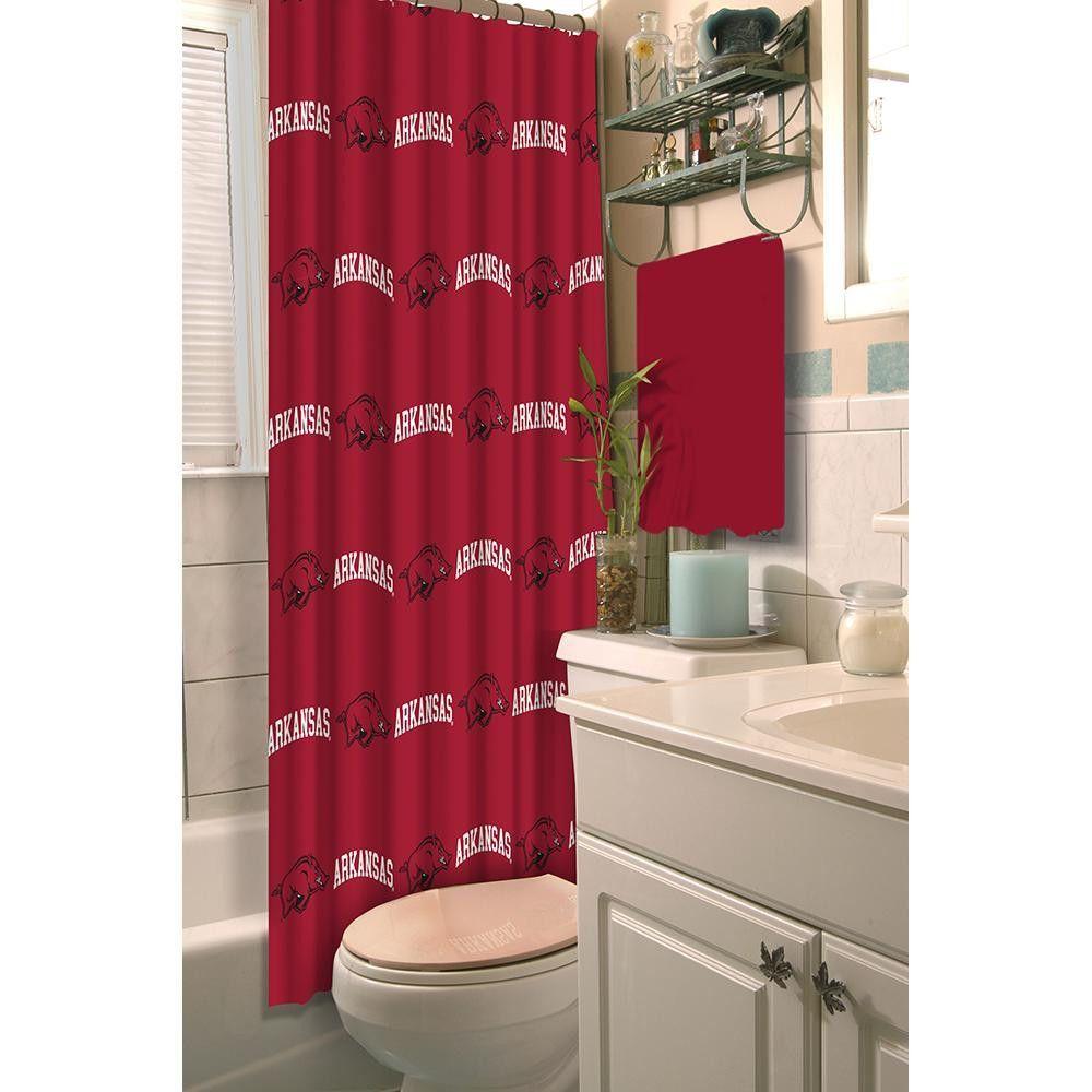 Arkansas Razorbacks NCAA Shower Curtain | Fabric shower ...