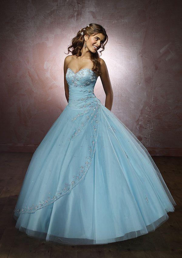 Elegant Blue Colored Wedding Dresses