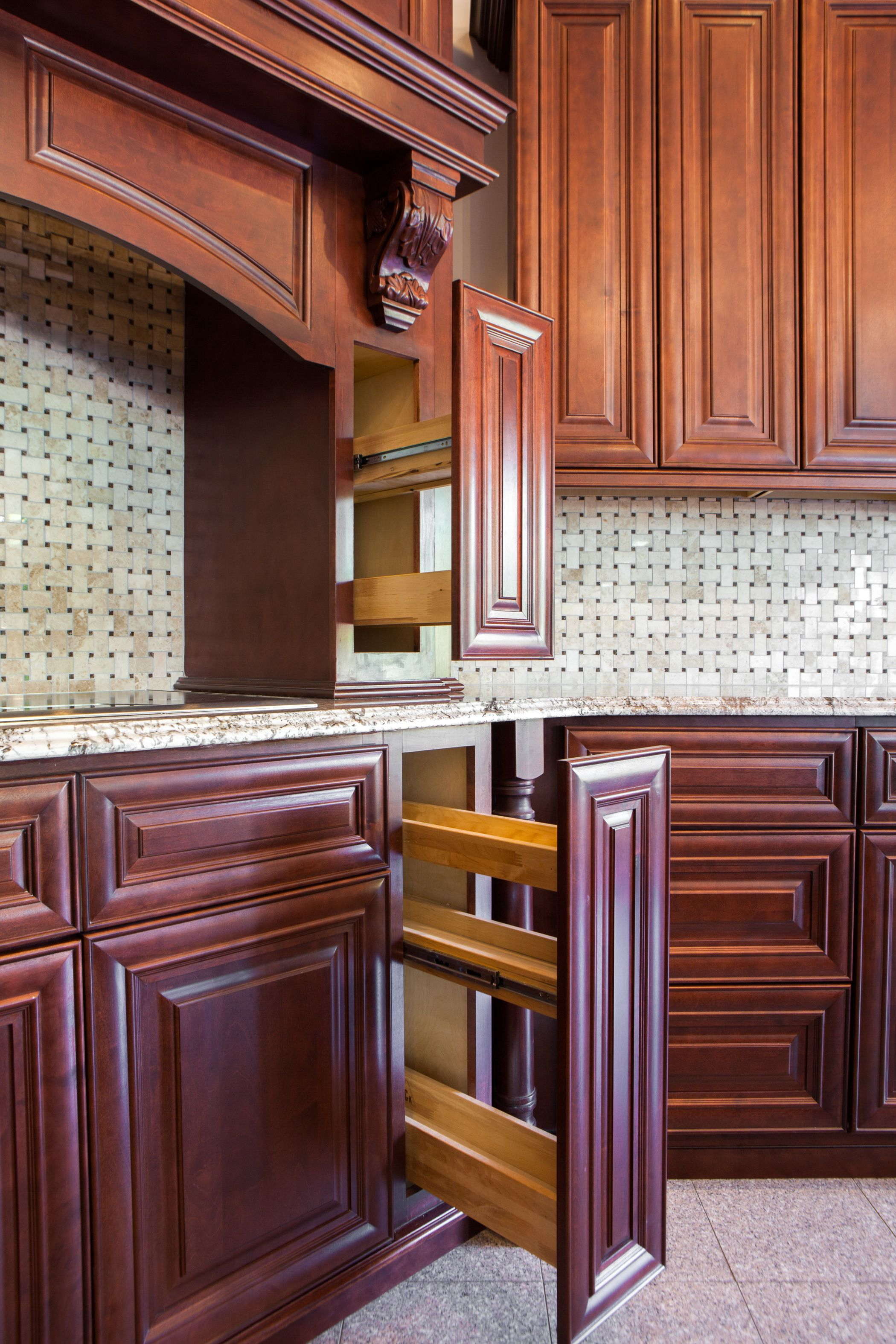 Best J K Traditional Mahogany Cabinets Style J5 Spice Rack 640 x 480