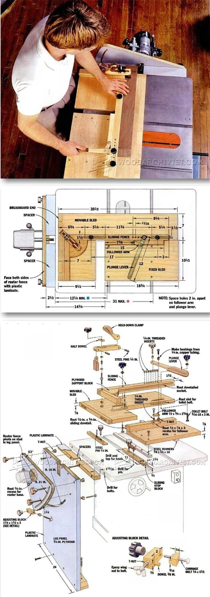 DIY Mortise and Tenon Jig - Joinery Tips, Jigs and Techniques   WoodArchivist.com