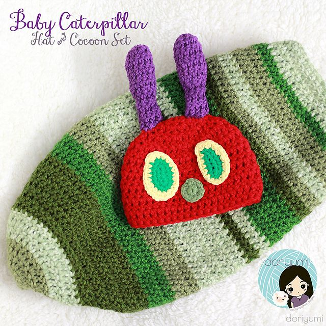 Baby Caterpillar Hat Cocoon Set Pattern By Doris Yu Hungry