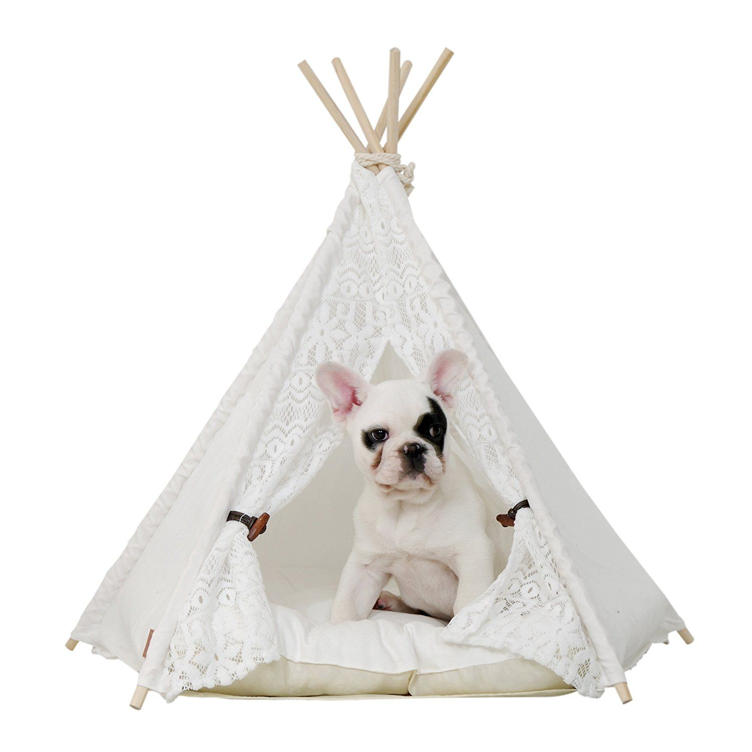 little dove Pet Teepee Dog and Cat Bed Portable Dog
