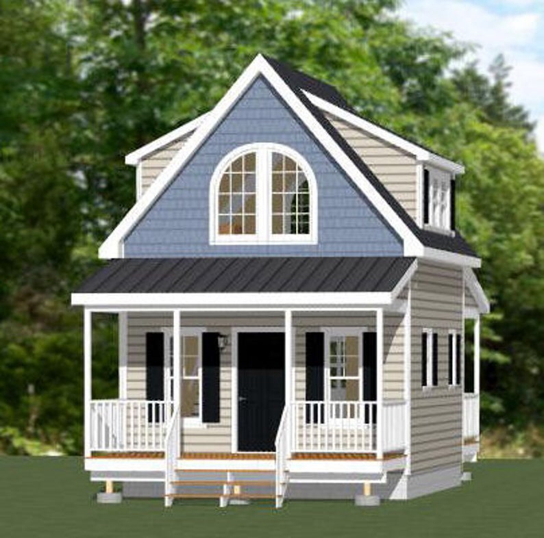 16x20 House 1 Bedroom 1 Bath 574 Sq Ft Pdf Floor Plan Etsy Cottage House Plans Building A House Small House Plans