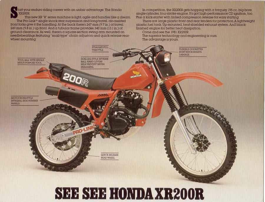Honda Xr200r Honda Motorcycles Honda Dirt Bike Honda