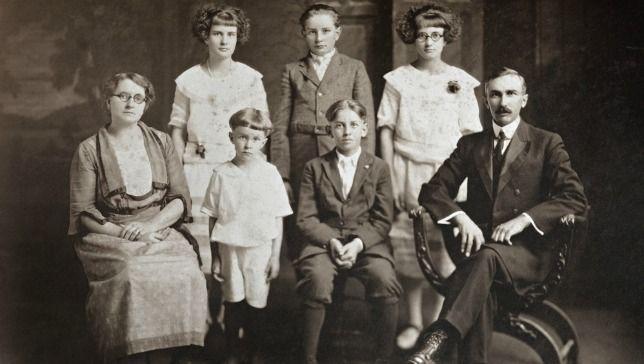 Familieportret uit de vorige eeuw