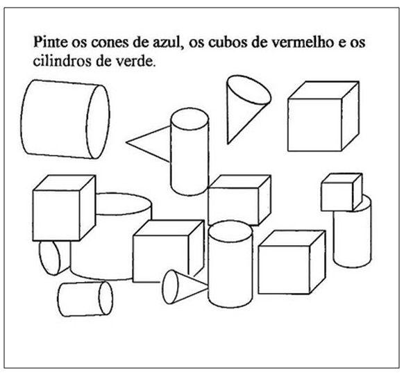 Matematica Solidos Geometricos Classificacao Com Pintura Com