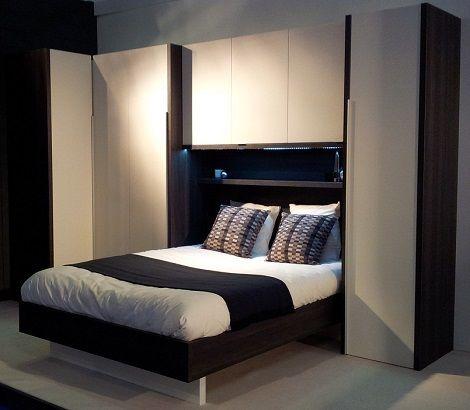 Bed met bedbrug slaapkamer,bergruimte,hoekkast,bed 140 cm. kleur ...