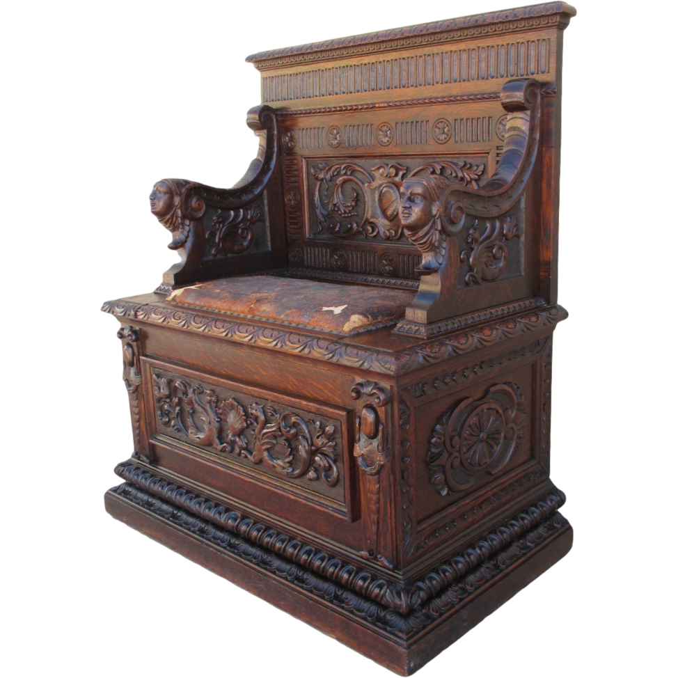 Fabulous French Antique Gothic Hall Chair Bench Antique Furniture! This  Stunning French Gothic Chair is - Gothic Antique Furniture Antique Furniture
