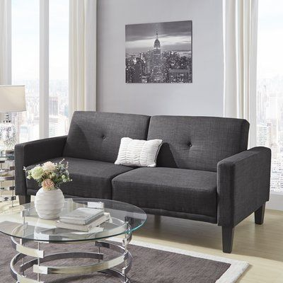 Wade Logan Colhaven Tufted Back Track Modular Sleeper Sofa Upholstery:  Rouded Tufted Back | Sleeper Sofas, Logan And Sofa Upholstery