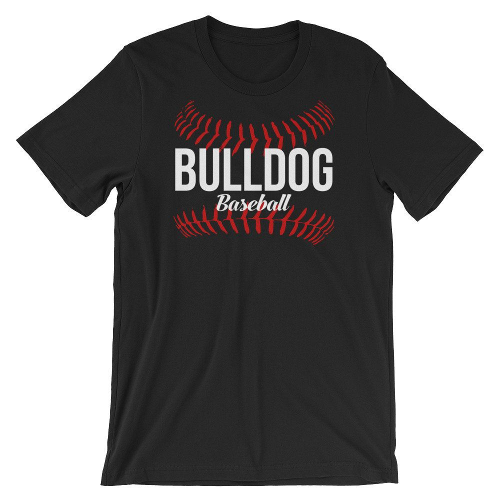 Bulldog Baseball Short Sleeve Unisex T Shirt Many Colors Available Https Etsy Me 2er0rin Clothing Shirt A Baseball Tee Shirts Baseball Shorts Balls Shirt