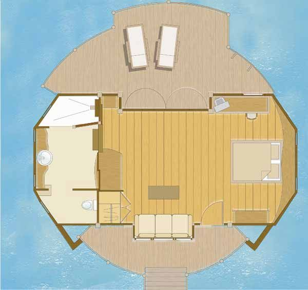 Exceptional Overwater Bungalow Floor Plan   Google Search
