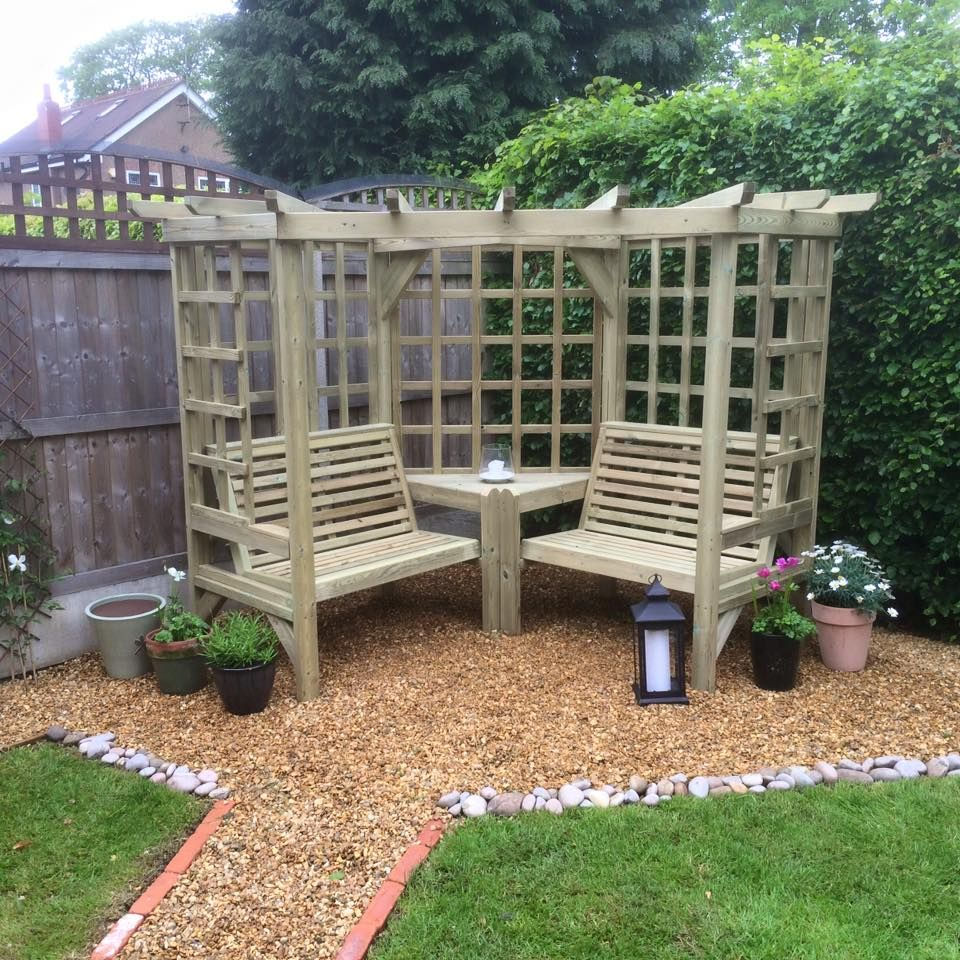 Clementine Corner Arbour- 4 Seat Garden Arbour (CR101 ...
