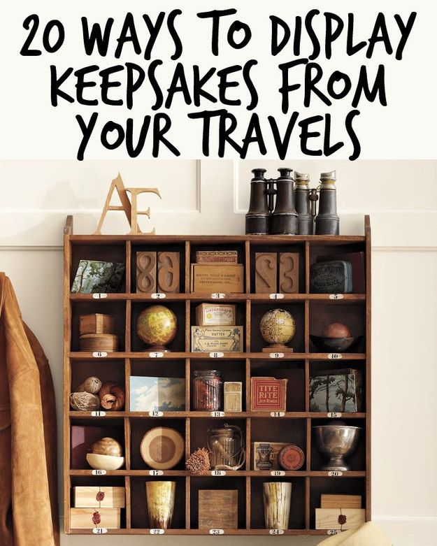 20 Ways To Display Keepsakes From Your