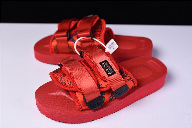 4dcd2b4ab2e1 CLOT x Suicoke MOTO-VS sandals men and women trend slippers core red ...