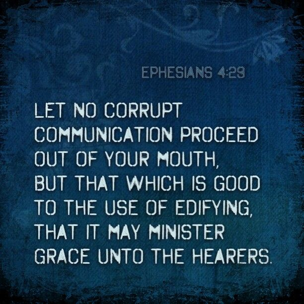 Image result for let no corrupt communication  kjv
