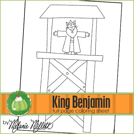 King Benjamin Printable Coloring Page Lots Of Wonderful Free