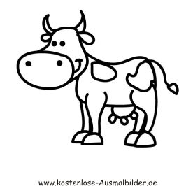 Kuh Ausmalbild Ausmalbilder Für Kinder Drawings Kühe Malen