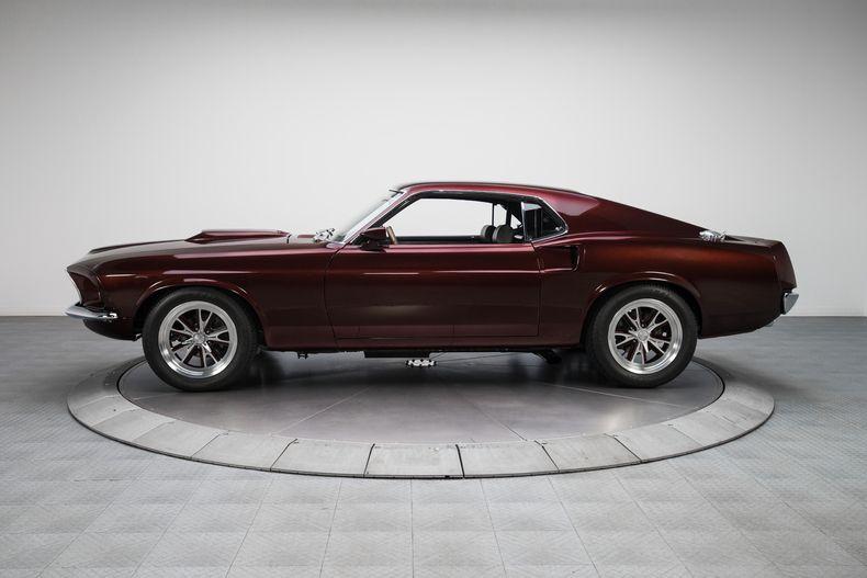1969 Burgundy Ford Mustang Fastback 428 V8 Ford Mustang Fastback