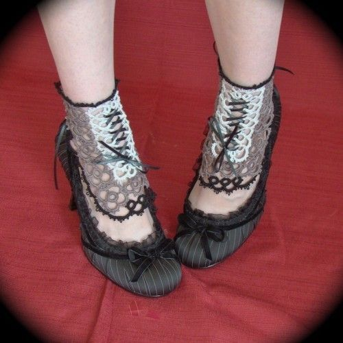 Image result for crochet spats