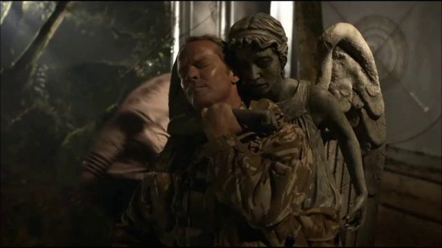 Iain Glen as Father Octavian - Doctor Who. JORAH! Why is his voice so perfect?