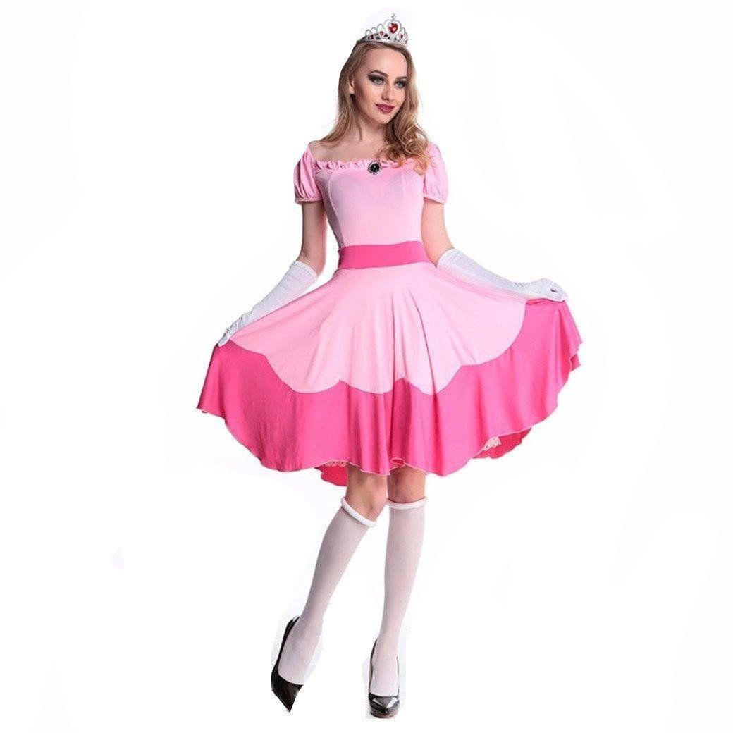 Pretty Princess Peach Pink Dress Up Leg Avenue Halloween Child Costume 2 pc