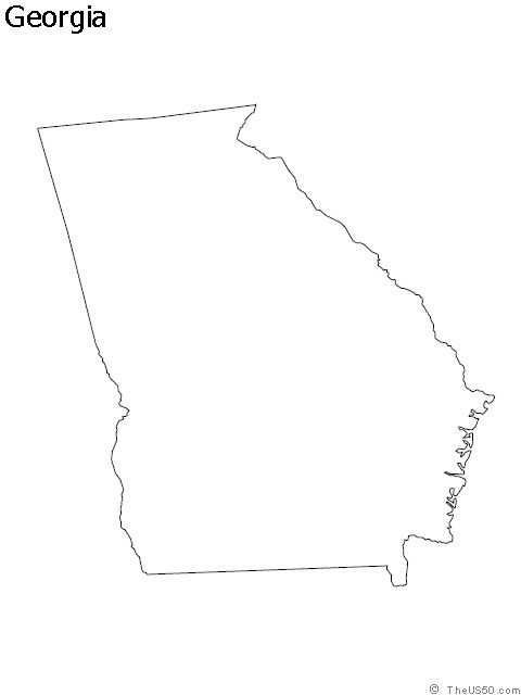 Ga Outline Give Me A Sign Pinterest State Outline Georgia