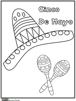 Cinco De Mayo Coloring Page Freebie Innovative Teacher