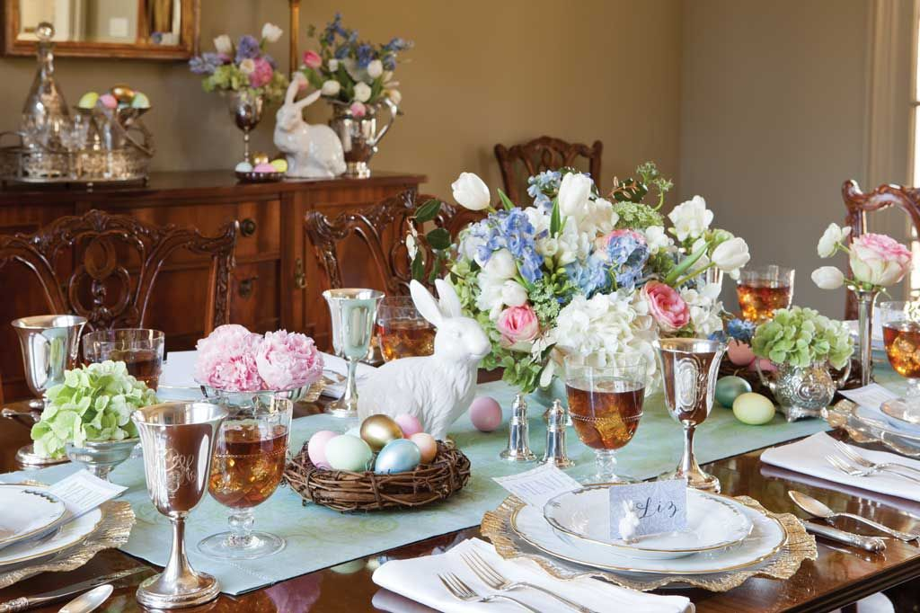 Easter Tablescape 1 Easter Table Decorations Easter Table Settings Easter Table