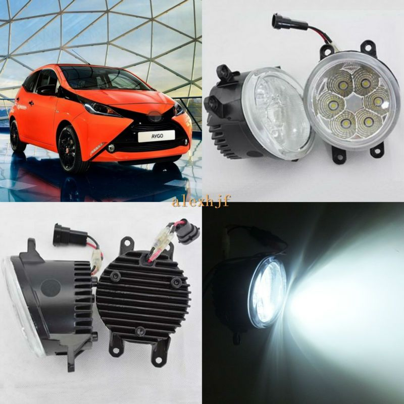 July King 18w 6500k 6leds Led Daytime Running Lights Led Fog Lamp Case For Toyota Aygo 2005 On Over 1260lm Pc Toyota Aygo Car Lights Running Lights