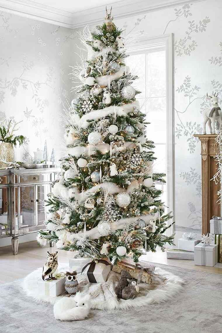 d co sapin blanc nos id es pour un arbre de no l r ussi xmas noel and christmas tree. Black Bedroom Furniture Sets. Home Design Ideas