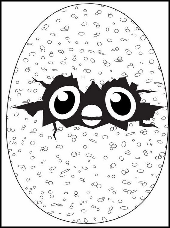 Printable Coloring Pages For Kids Hatchimals 6 Kids Birthday Fun