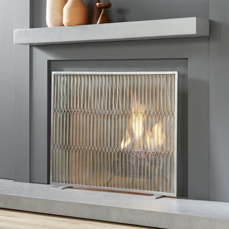 Shop Panes Mesh Fireplace Screen Sleek Silver Wire Marquis Panes