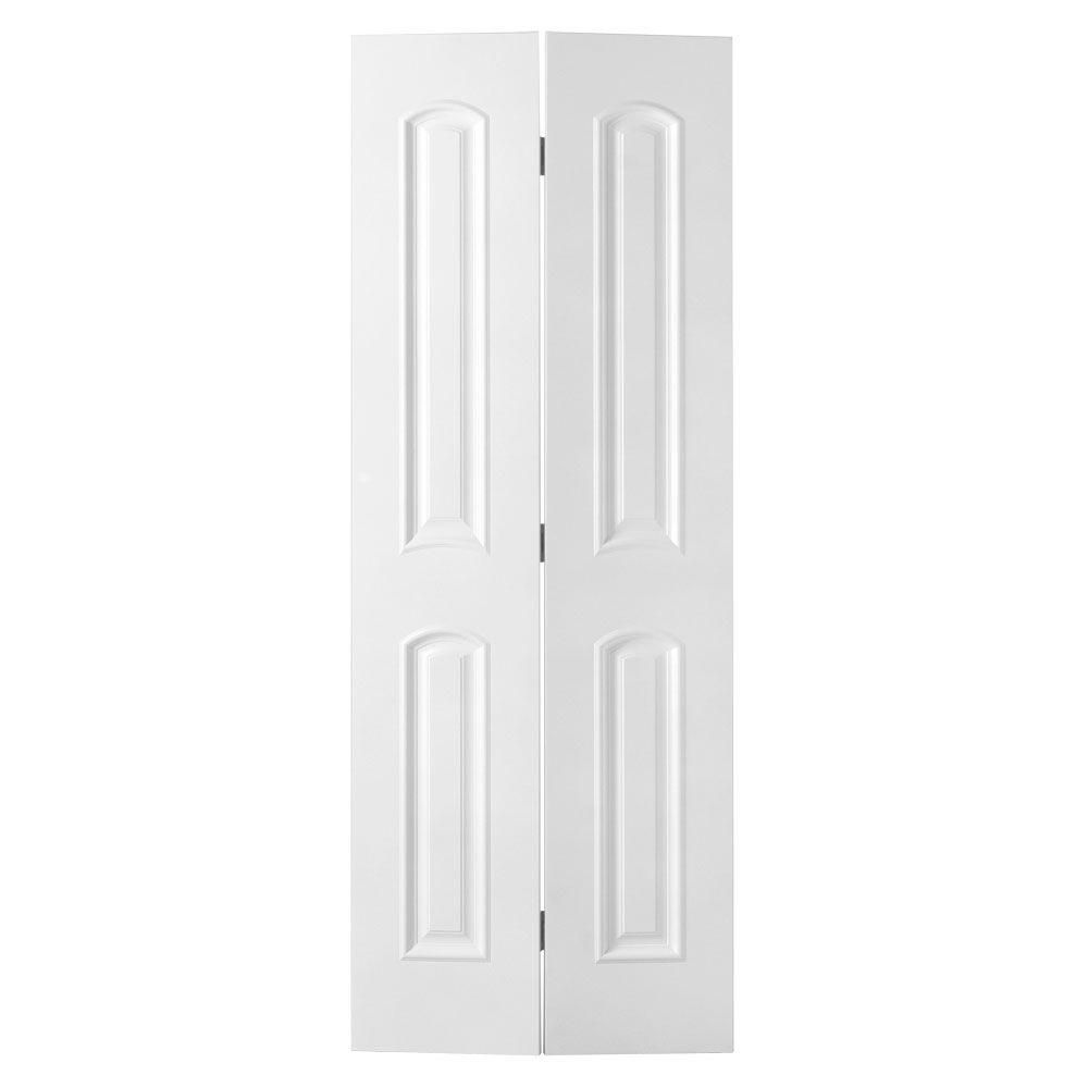 Customize Your Decor With This Masonite Palazzo Bellagio Smooth Arch Top  Solid Core Primed Composite Interior Bifold Closet Door.