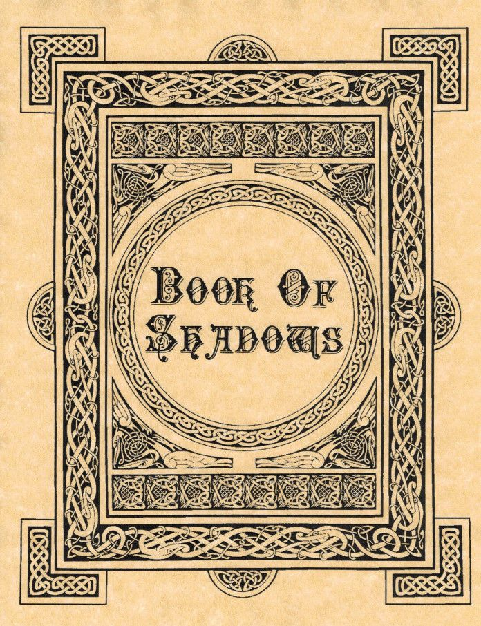 Book Of Shadows Cover Ideas : Book of shadows cover or title page bos wicca