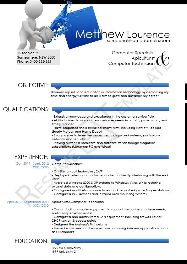 This Image Presents The Chronological Resume Template Do You Know