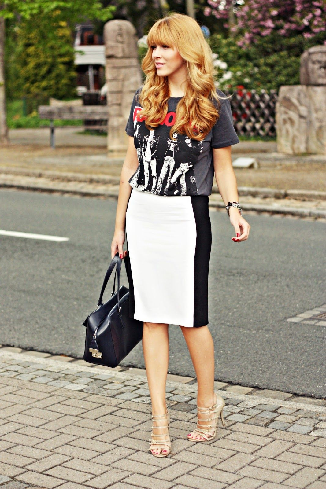 Graphic T Shirt With Skirt Trend Also Noteworthy White Skirt With