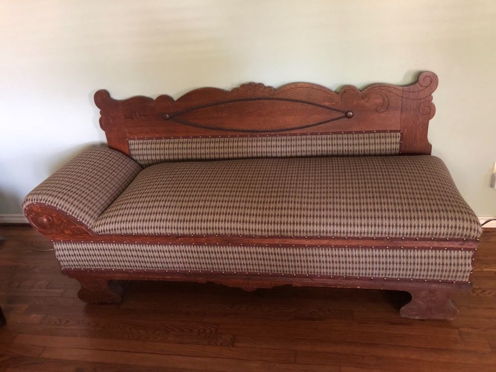 1880 To 1910 Late Victorian Eastlake Or Style Sofa Bed Lounge Fainting Couch Condition Good Ebay